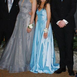 light blue sherri hill dress